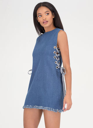 Tie It All Together Denim Minidress