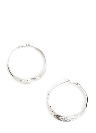 Right This Way Ridged Hoop Earrings
