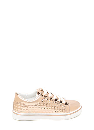 Quilt-y Feelings Metallic Sneakers