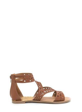 Shape Up Cut-Out Faux Leather Sandals