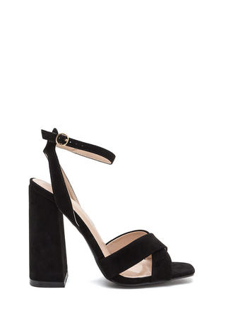 Cross Reference Chunky Strappy Heels