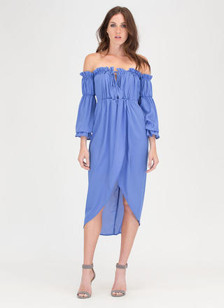 Chic Date Off-Shoulder High-Low Dress