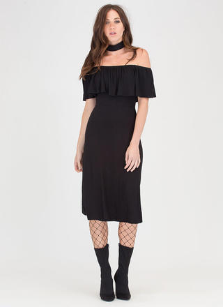 Summer Breeze Flowy Off-Shoulder Dress