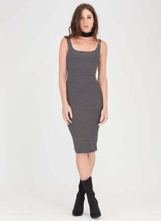 Couldn't Be Easier Striped Tank Dress