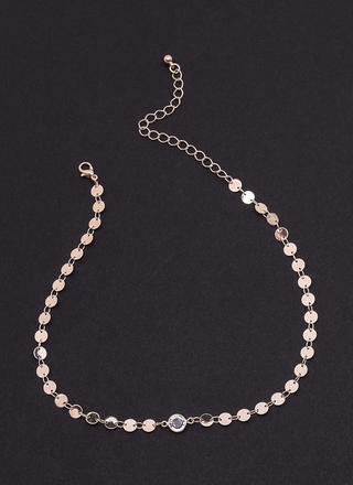 Crystal Clear Paillette Chain Choker