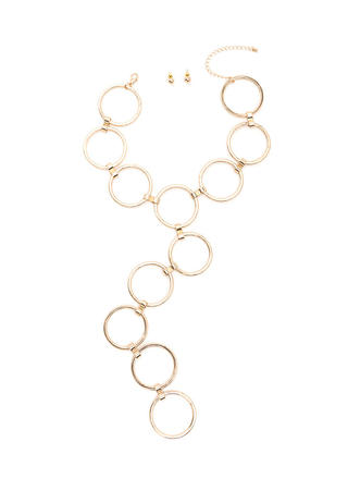 Ring Toss Statement Necklace Set