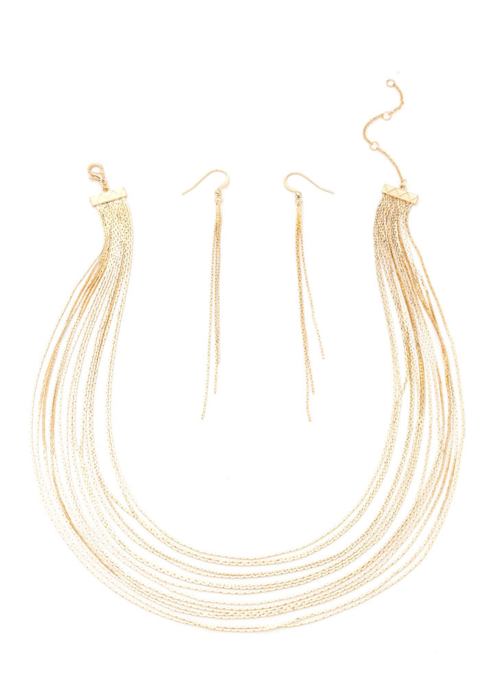 Chic Highlight Layered Necklace Set