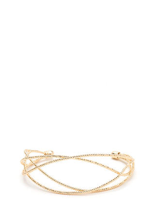 Shine Evening Layered Cuff Bracelet