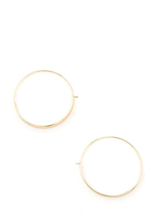 Modern Edge Flat Hoop Earrings