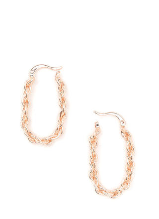 First Braid Textured Hoop Earrings