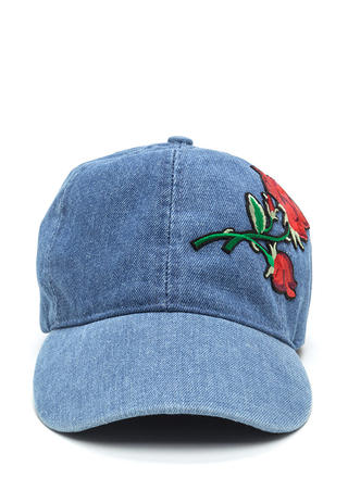 Rose To The Occasion Embroidered Hat
