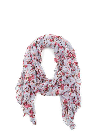 Floral Touch Gathered Scarf