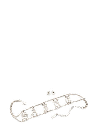 Saint Or Sinner Chain Choker Set