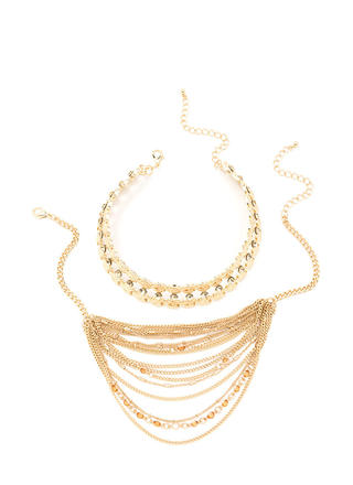 Dazzling Layers Sparkly Necklace Set