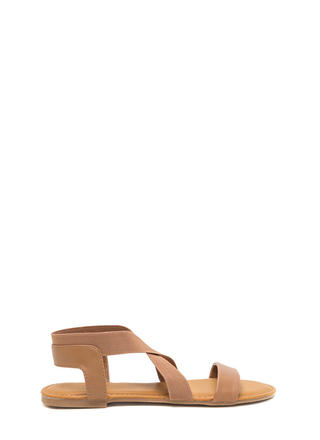 For X-ample Strappy Faux Leather Sandals