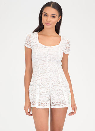 Lace Get It On Plunging Romper