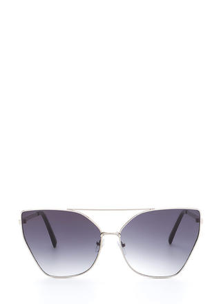 Diva Status Cat-Eye Top Bar Sunglasses