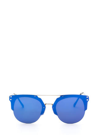 Specs Appeal Mirrored Top Bar Sunglasses