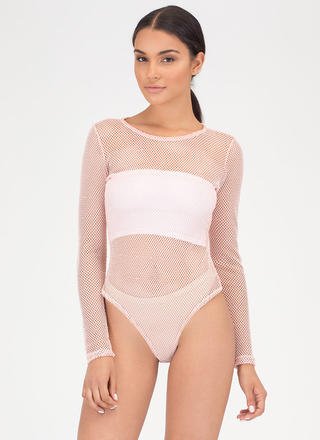 Hole Thing Netted Sports Mesh Bodysuit