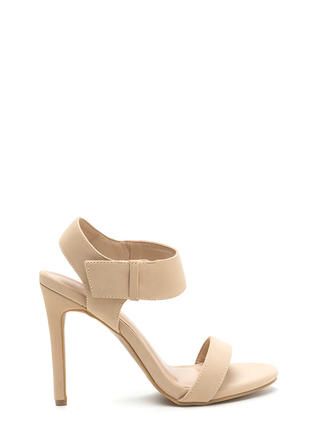 Hot Date Strappy Faux Nubuck Heels