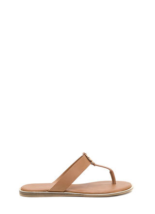 Mystic Spiral Faux Leather Sandals