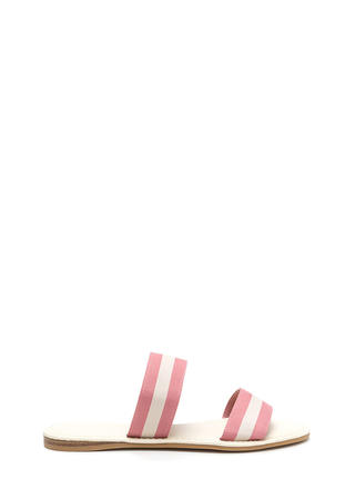 Double Agent Striped Slide Sandals