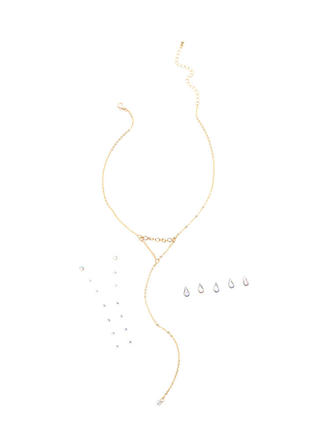 Stick With Me Faux Jewel Necklace Set