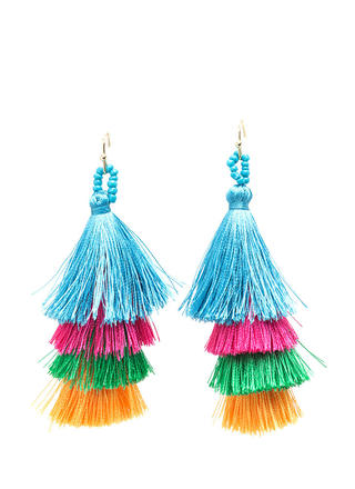 Taken By Tassels Textured Earrings