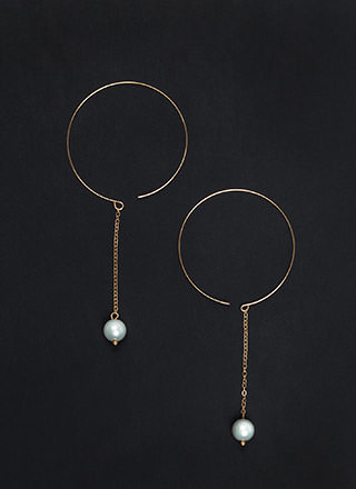 Suspended In Time Faux Pearl Earrings