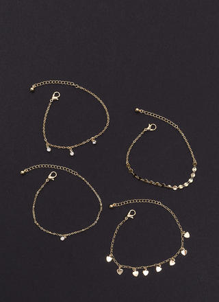 All Four You Chain Bracelet Set