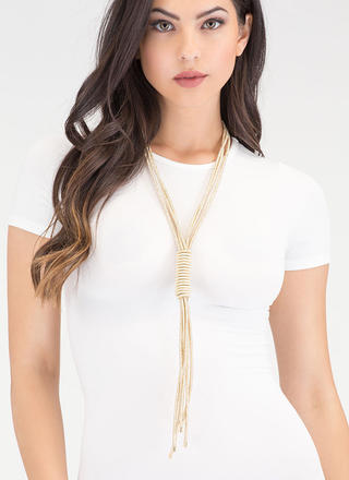 Let's Get Fancy Lariat Necklace Set