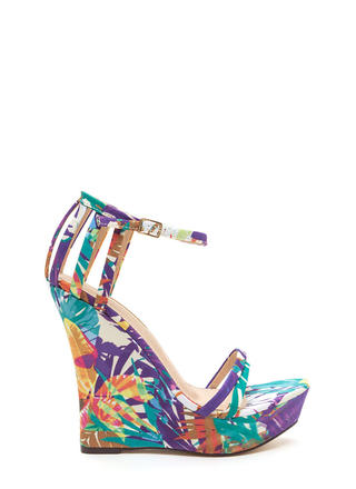 Sky's The Limit Tropical Platform Wedges