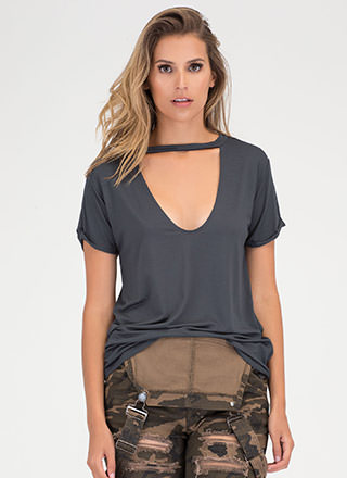 Get It Off Your Chest Cut-Out Top