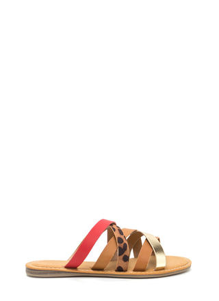 Take Five Leopard Strap Sandals