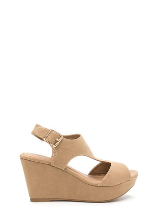 Triangulate Me Faux Nubuck Wedges