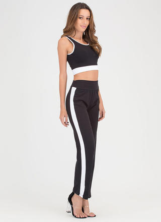 Training Day Contrast Top 'N Pants Set