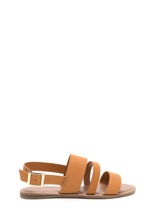 Strapped In Faux Leather Sandals