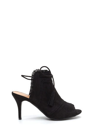 Bohemian Dream Fringed 'N Tied Heels