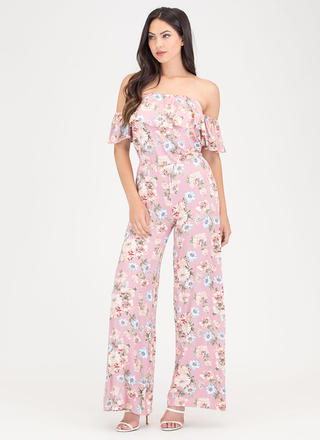 Bloom To Grow Off-Shoulder Jumpsuit