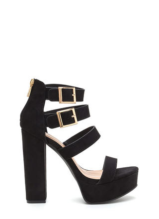 Four All Time Chunky Platform Heels