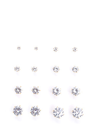 Diamond In The Rough Earring Set