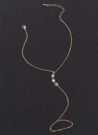 Keep It Simple Jeweled Chain Anklet