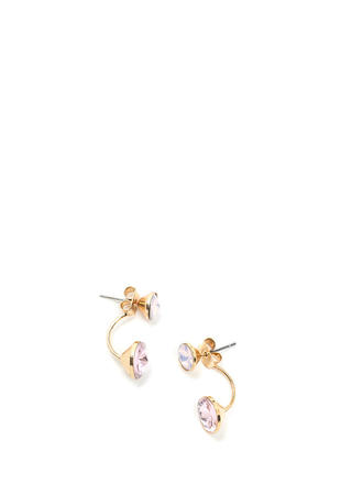 Wicked Chic Faux Jewel Backdrop Earrings