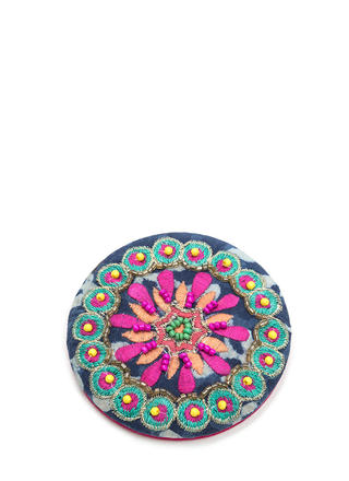 Reflect On It Embroidered Compact Mirror