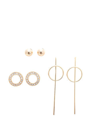 Minimal Touch Glitzy Earring Set