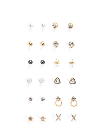 Treasure Chest Embellished Earring Set