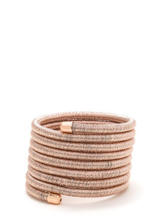 Spring For It Metallic Coil Bracelet