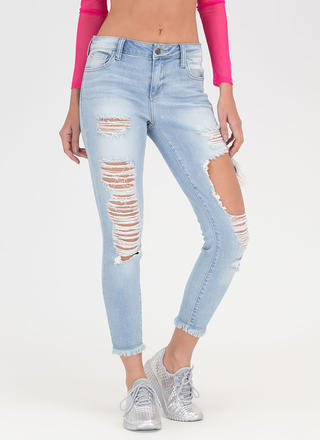 Crop Of Your Game Distressed Jeans