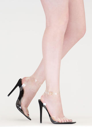 Clearly Winning Pointy Faux Nubuck Heels