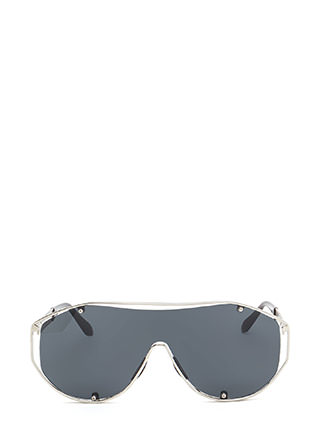 Glam Athlete Shiny Shield Sunglasses
